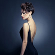 Leinwanddruck Bild - Elegant lady in evening dress