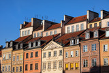 Old Town Tenement Houses in Warsaw poster