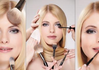 Hübsche Frau mit Gesichts Make up