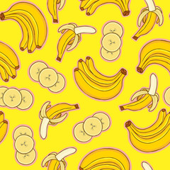 Pattern of bananas