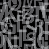 Abstract letters seamless pattern.