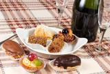 pasticcini al cioccolato e alla frutta