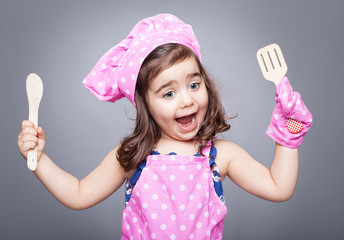 excited little cook