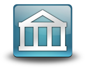 "Light Blue 3D Effect Icon ""Bank"""