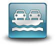 """Light Blue 3D Effect Icon """"Vehicle Ferry"""""""