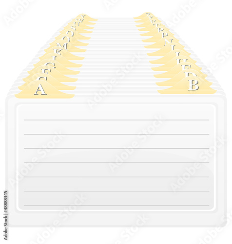 catalog in alphabetical order vector illustration
