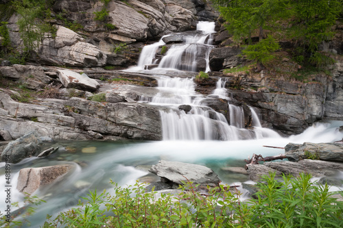 Waterfall Lillaz in Gran Paradiso National Park, Italy