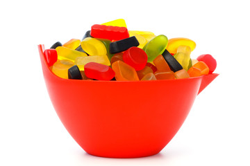 Bowl with colorful candy