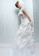 Tall Bride with White Wedding Dress