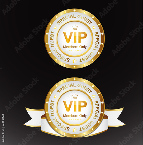 White Gold Vip Sign