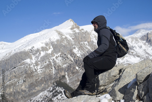 Hiker on top of the mountain