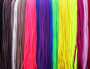 Colorful shoelaces background