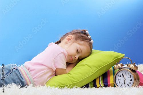cute little girl sleeping