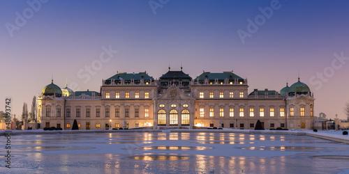 Schloss Belvedere zur Winterzeit