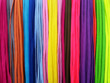 Multicolored shoelaces background