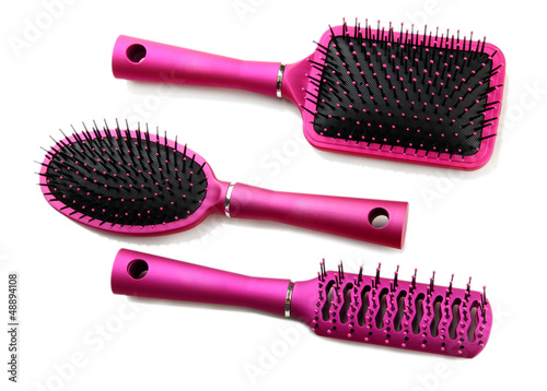 Comb brushes, isolated on white
