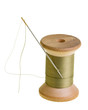 Spool of green sewing thread