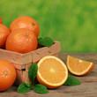 Orangen in einem Korb
