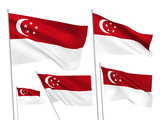 Singapore vector flags