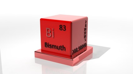 Bismuth. 3d chemical element of the periodic table