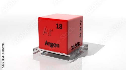 Argon. 3d chemical element of the periodic table
