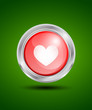 Valentine's day heart web button
