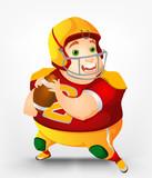 Cheerful Chubby Man