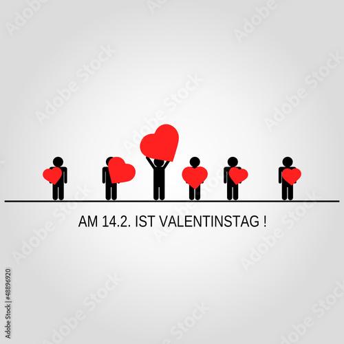 Valentinstag Erinnerungskarte