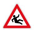Schild Vorsicht Rutschgefahr
