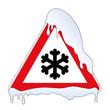 Schild Schnee u. Eisglätte
