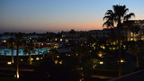 Sunset and recreation area of the luxury hotel, Sharm el Sheikh,