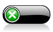 cancel black and green web icon on white background