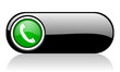 phone black and green web icon on white background
