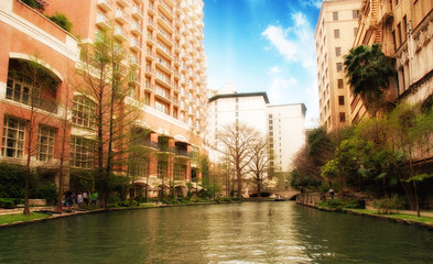 River and Buildings of San Antonio