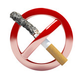 no smoking symbol sign 3d illustration