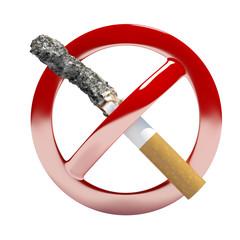 no smoking symbol sign 3d illustration
