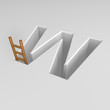 letter w and ladder