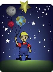 el niño y los planetas