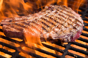 Rib Eye Steak on Grill
