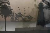 pirate ship in ocean