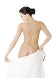 Beautiful nude woman after bath or spa