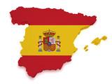 Fototapety Spain Map 3d Shape