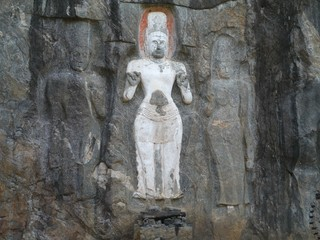 Sculptures in Burduruwagale near wellawaya in Sri Lanka
