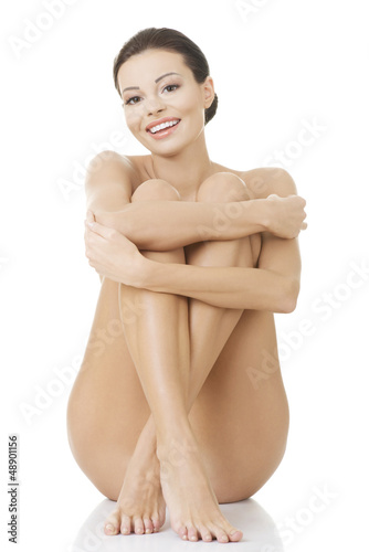 Naked woman with healthy clean skin