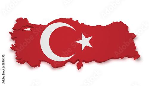 Turkey Map 3d Shape