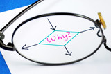 The word Why concepts of finding out the reason poster