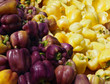 Purple and Yellow Bell Peppers