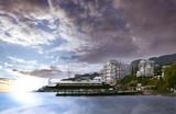 view of the sea coast of Yalta