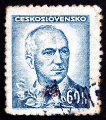 Postage stamp Czechoslovakia 1945 Edvard Benes