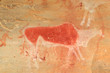 Bushmen (san) rock painting of an eland antelope